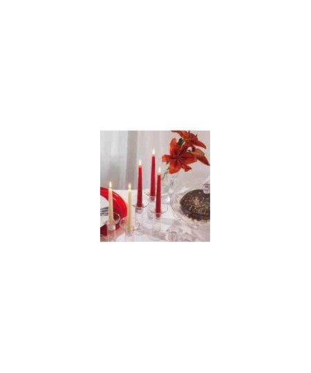 Lumanari conice rosii 8 ore Gies, 245 x 23,5 mm, set 10 buc.