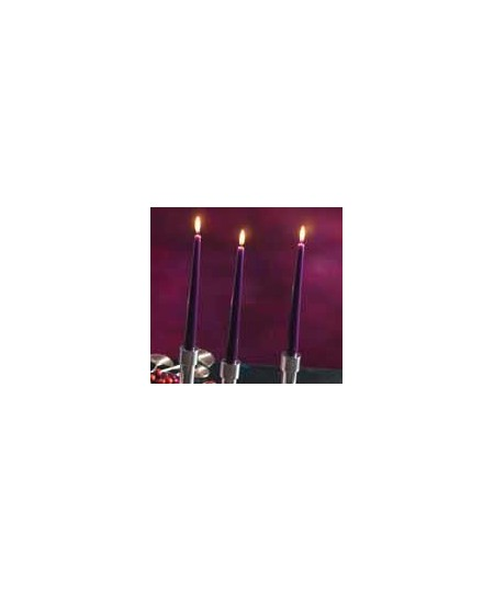 Lumanari conice rubin 8 ore Gies, 245 x 23,5 mm, set 10 buc.