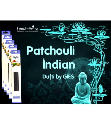Betisoare parfumate Patchouli Indian Dufti by Gies!