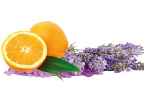 Orange-Lavender